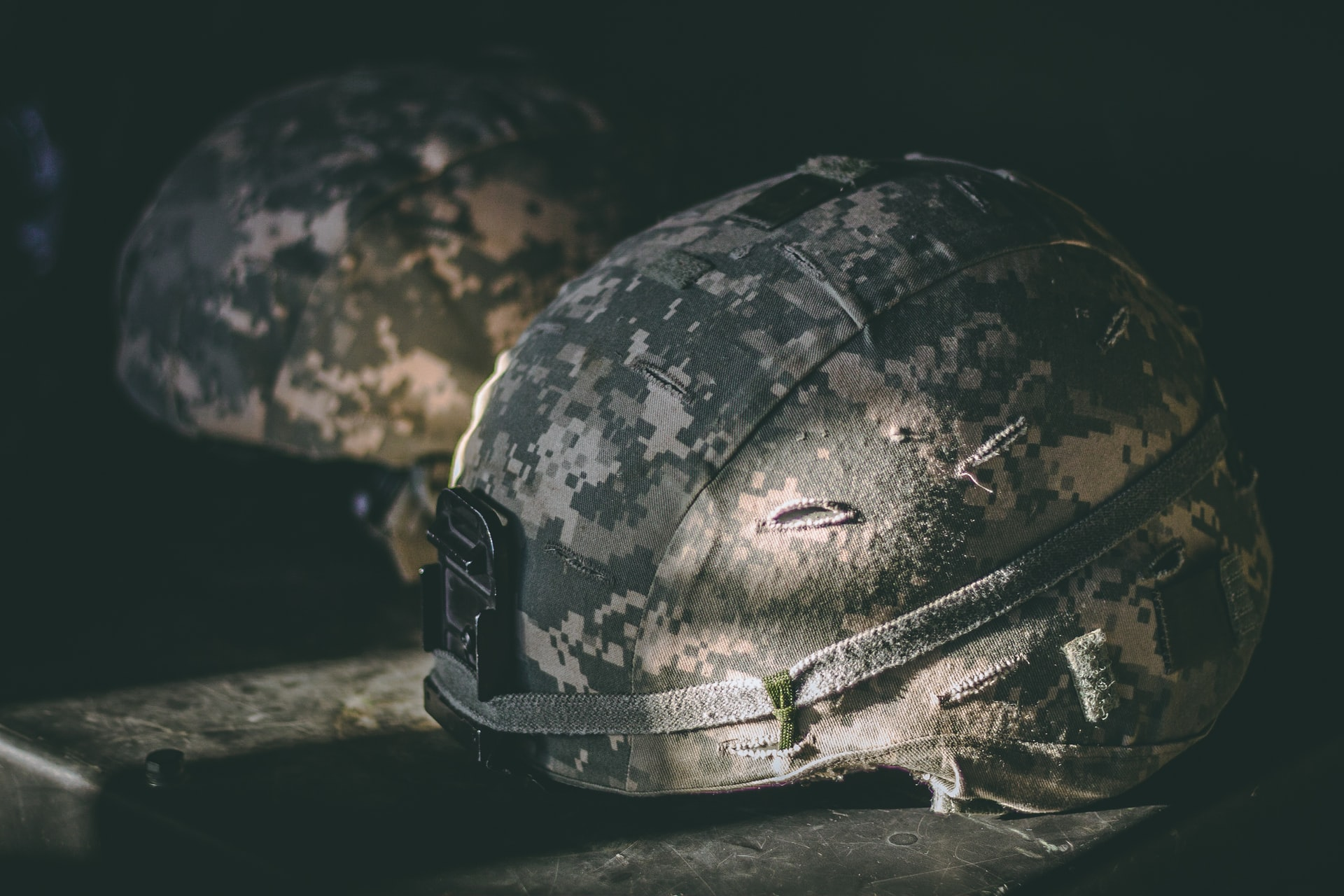 Veterans Command Mission Page Hero Banner Image - Military Helmet